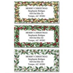 Merry Christmas Labels.Merry Christmas Address Labels Current Catalog