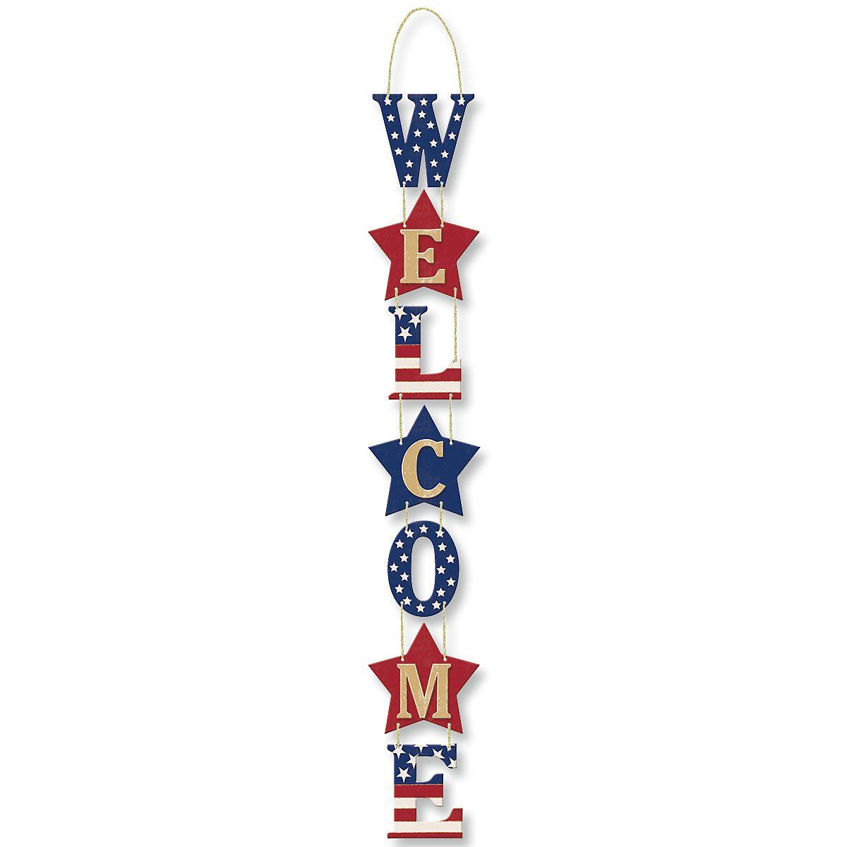 Americana Welcome Sign