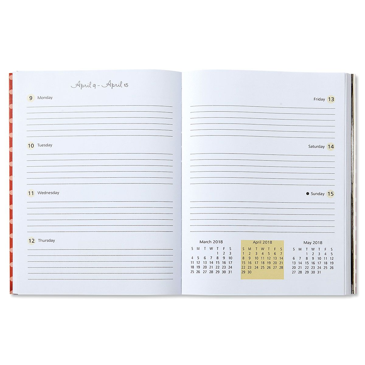 2018 Fashion Weekly Planner