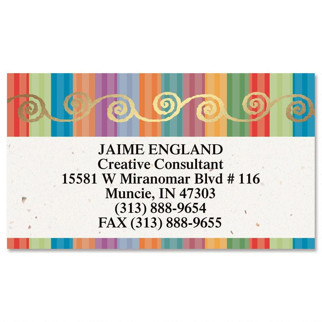Color Caravan Foil Calling Card