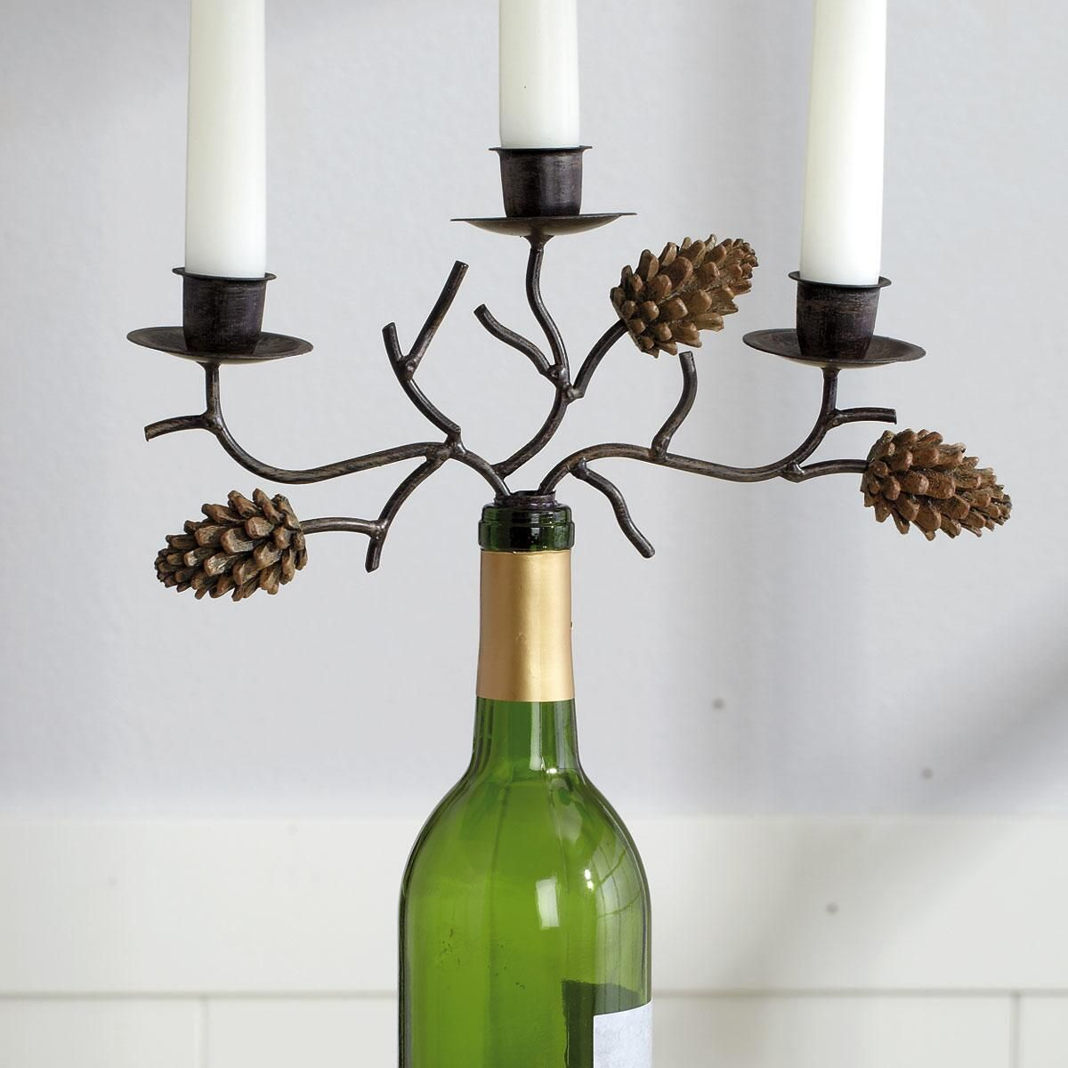 Country Pine Candelabra