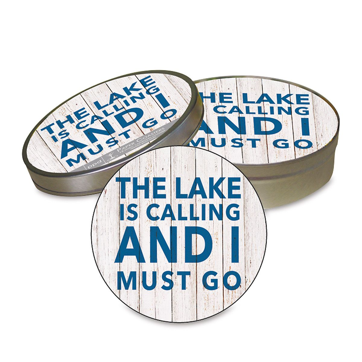 Lake Is Calling Coasters in a Tin