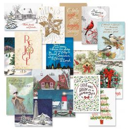 Faith Christmas Card Value Pack - Set of 64