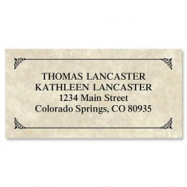 Antique Border Address Labels Current Catalog