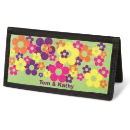 Feeling Groovy  Checkbook Cover - Personalized