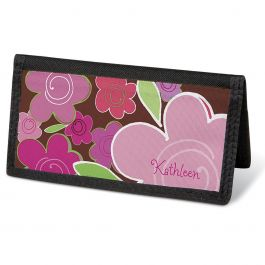 Shades of Pink  Checkbook Cover - Personalized