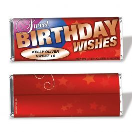 Birthday Wishes Candy Bar Wrapper