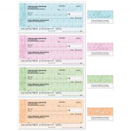 Peace, Love, Joy, Hope Single Checks with Matching Address Labels