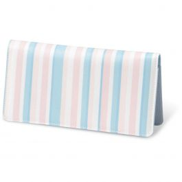 Coastal Stripes  Fabric Checkbook Cover