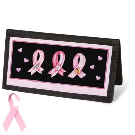 Pink Ribbon  Checkbook Cover - Non-Personalized