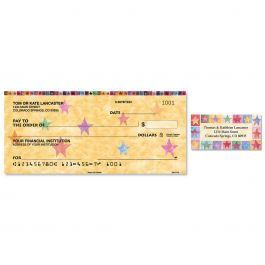 Stars on Parade Single Checks With Matching Address Labels