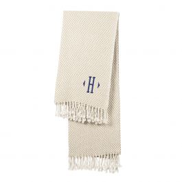 Herringbone Throw - Initial