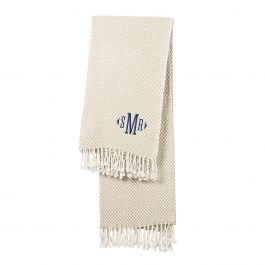 Herringbone Throw - Monogram