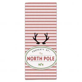 North Pole Retro Christmas Kitchen Towel