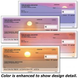Sunset Splendor Duplicate Checks