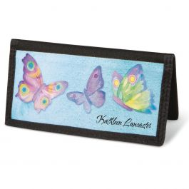 Watercolor Wings  Checkbook Covers - Personalized