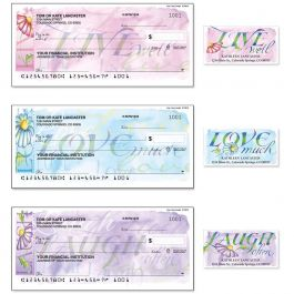 Live, Love, Laugh Single Checks with Matching Address Labels