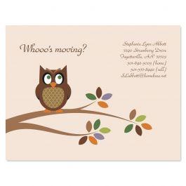 Owl We Ve Moved New Address Postcards
