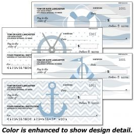 Nautical Chic Duplicate Checks