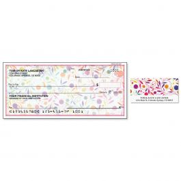 Color Swirl Single Checks with Matching Labels