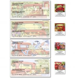Red Truck Single Checks with Matching Labels