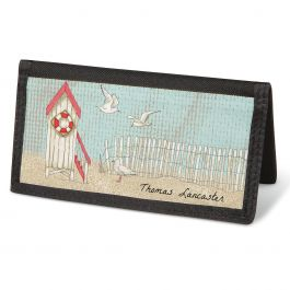 Coastal  Checkbook Cover - Personalized