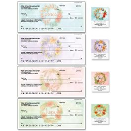 Wreaths Single Checks with Matching Labels