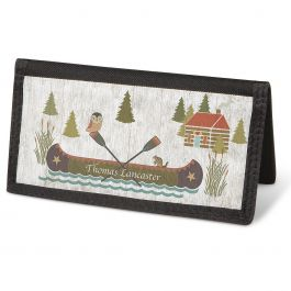 Woodland Lodge Checkbook Cover - Personalized
