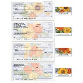 Sunflower Chambray Duplicate Checks with Matching Labels