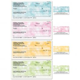 Celebration Single Checks with Matching Labels