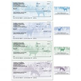 Wild Forest Single Checks with Matching Address Labels