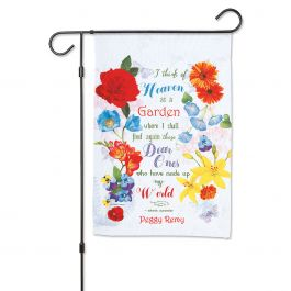 Mixed Floral Personalized Garden Flag