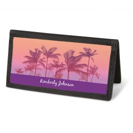 Tropical Palms Checkbook Cover - Personalized