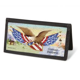 American Eagle Checkbook Cover- Personalized
