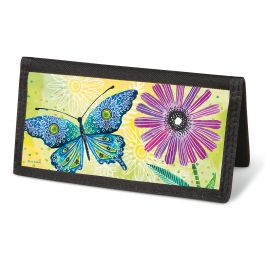 Floral Flight Checkbook Cover - Non-Personalized