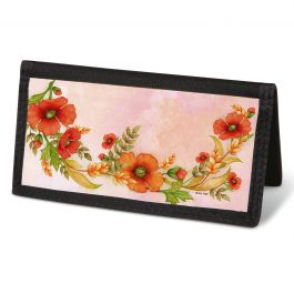 Wreaths Checkbook Cover - Non-Personalized