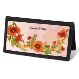 Wreaths Checkbook Cover - Personalized