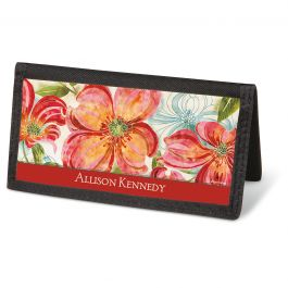 Floral Daydream Checkbook Cover - Personalized