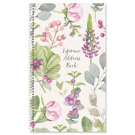 Pink Peony Lifetime Address Book
