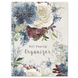 Fall Florals Bill Paying Organizer