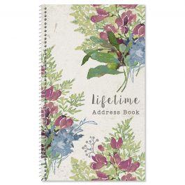 Fall Florals Lifetime Address Book