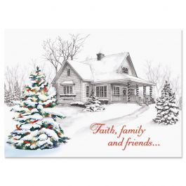 Winter Home Christmas Cards - Nonpersonalized