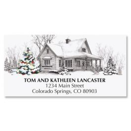 Winter Home Deluxe Address Labels