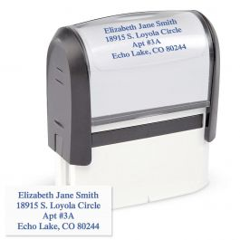 Standard Self-Inking Address Stamp - Blue Ink