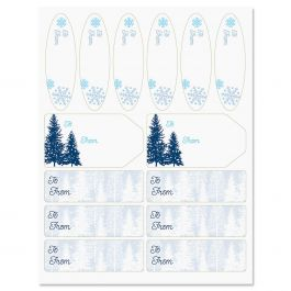 Snowy Trees Labels