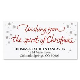 Christmas Wish Address Labels