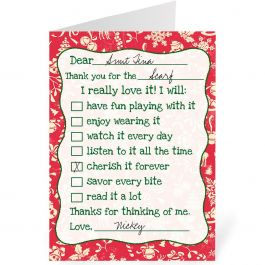 Christmas Thanks Personalized Thank You Cards Current