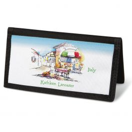 Tranquil Europe Checkbook Cover - Personalized
