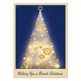 Snowflake Tree Christmas Cards - Nonpersonalized