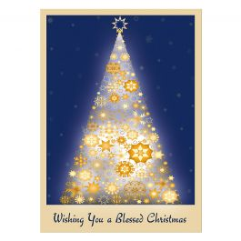 Snowflake Tree Christmas Cards - Personalized